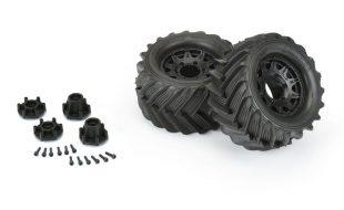 Pro-Line 1/10 Demolisher Front & Rear 2.8″ Mounted MT 12mm Black Raid Tires