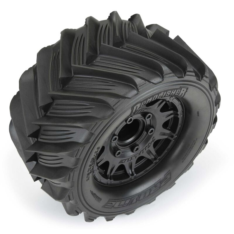 Pro-Line 110 Demolisher Front & Rear 2.8 Mounted MT 12mm Black Raid Tires