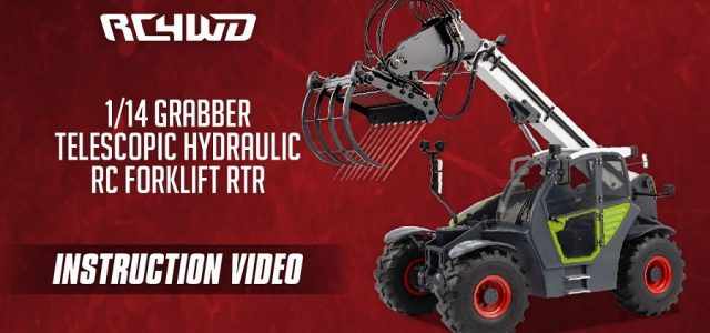RC4WD 1/14 Grabber Telescopic Hydraulic RC Forklift RTR Instruction Video [VIDEO]
