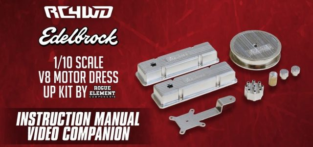 RC4WD Edelbrock 1/10 Scale V8 Motor Dress Up Kit [VIDEO]