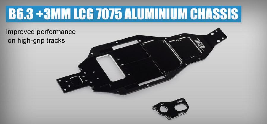 Revolution Design B6.3 +3mm LCG 7075 Aluminum Chassis