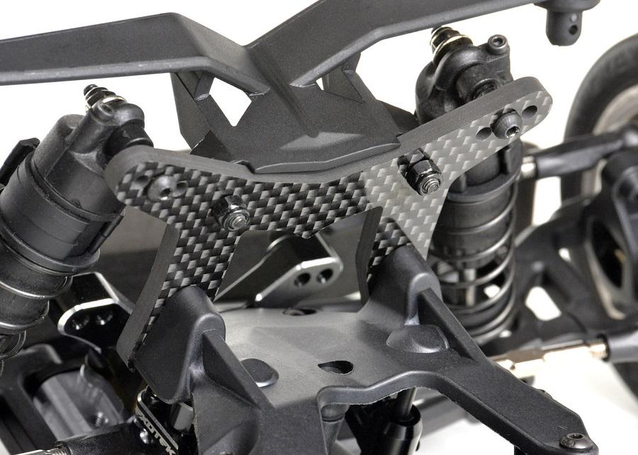 Exotek 4mm Carbon Fiber Front Shock Tower For the Losi 22S Drag Car