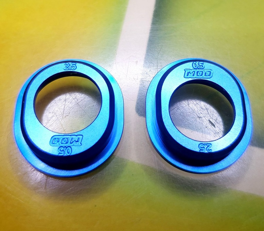 Mod 1.5 & .5/2.5 Aluminum Diff Height Inserts For Associated 6 Series Vehicles