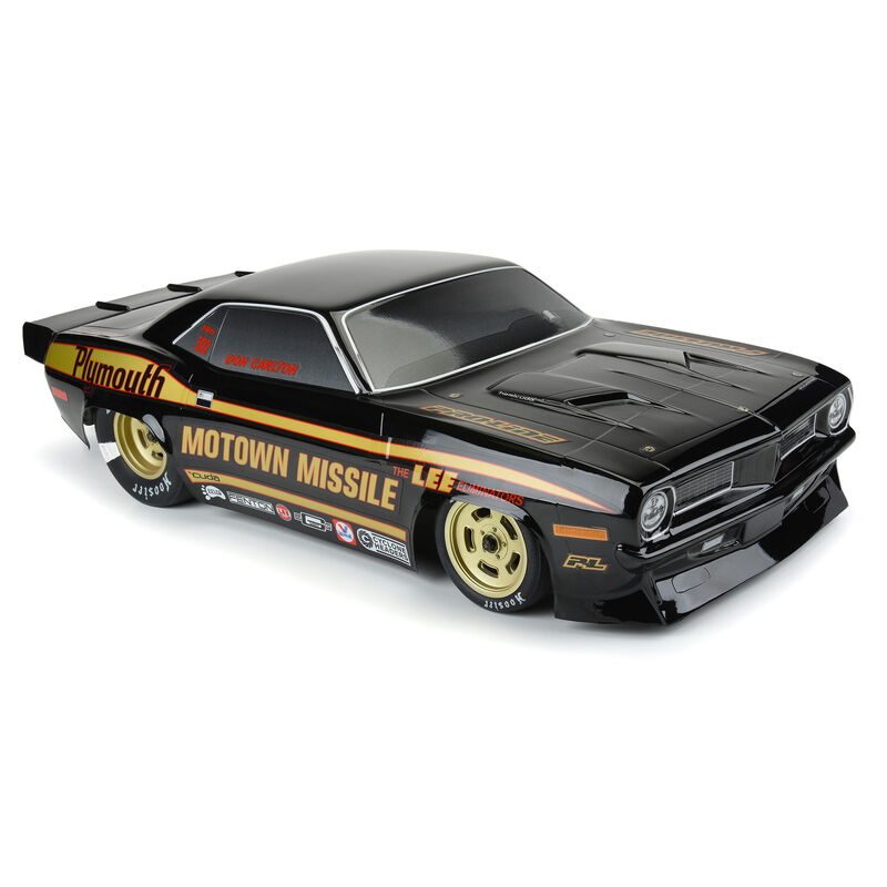 Pro-Line 1/10 1972 Plymouth Barracuda Motown Missile Black Body