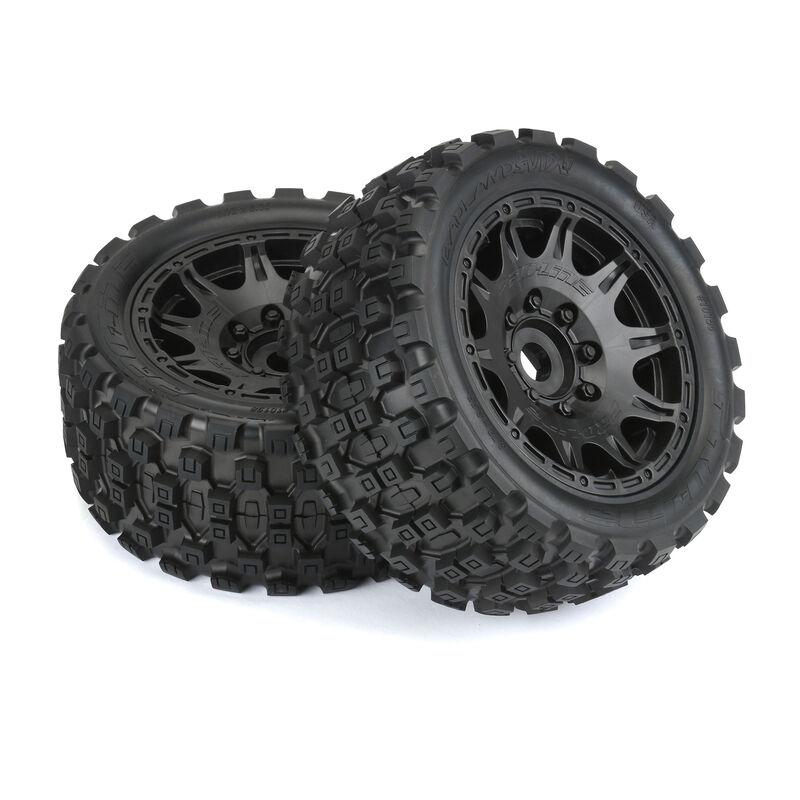 Pro-Line 1/6 Badlands MX57 Tires & Raid Wheels Pre-Mounts